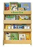 Tidy Books - Das Originale personalisierte Kinder-Bücherregal in Natur - Buchcover Werden präsentiert - Schmales Regal fürs Kinderzimmer - Ideale Kinderbücher Aufbewahrung - 115 x 77 x 7 cm