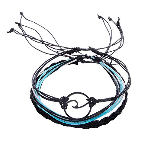Pulseras, Winkey 3 pulseras de tobilleras de plata para mujer, cuerda de playa, tobillera, joyería