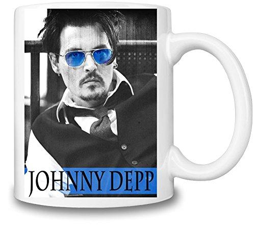 Johnny Depp With Blue Glasses Becher-Schale
