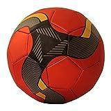 Fußball für Training & Spiel, Leder, rutschfest, Größe 5,in vier Farben, rot