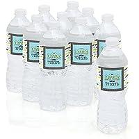Big Dot of Happiness Juego DE 10 Etiquetas Adhesivas para Botella de Agua, diseño de
