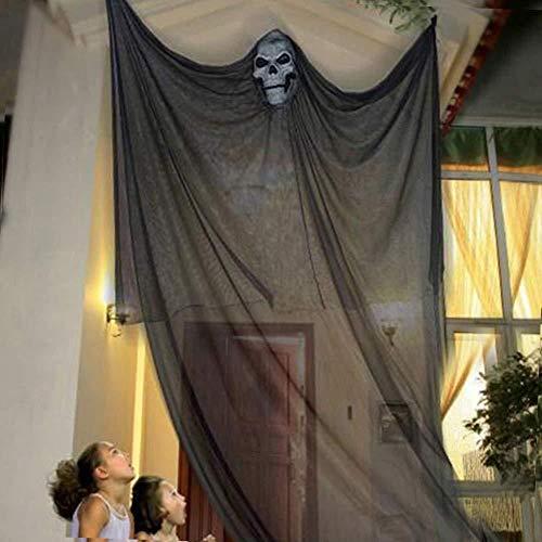 Football Kostüm Pferd - AGYE Halloween Deko,Gespenst Gruselig Hängend Türvorhang -für Halloween Tür Deko (Schwarz)