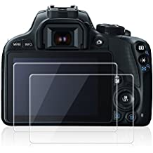 Protectores de Pantalla para Canon EOS M3 M5 M10 100D G1 X Mark II, AFUNTA 2 Paquete Anti-scratch de Vidrio Temperado Películas de Protección para Cámaras Digitales DSLR