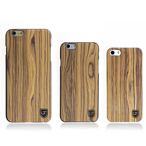 Custodia in legno Apple iPhone 6 / 6s ** Vero Legno - Ultra Sottile ** Design Unico ** Perfect Fit ** Cover Bumper UTECTION® Pioppo Palissandro