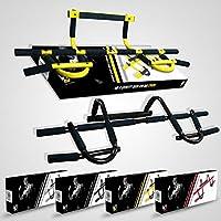 We R Sports Door Gym Bar Extreme Black - Máquina de brazo (sin tornillos, entrenamiento, heavy duty), color negro