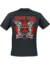 """Johnny Cash - """"Ring Of Fire"""" T-Shirt, Farbe: schwarz"""