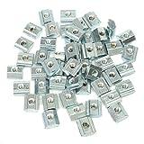 ChaRLes 50pcs M4 T bloque de tuerca corredera para 2020 aluminio perfil zinc reCubierto placa aluminio accesorios