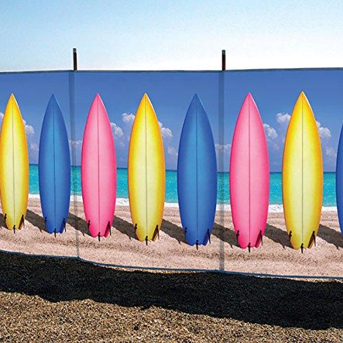laeto Sport und Outdoor 4Pol 4'Surfbrett Bedruckt Windschutz für Outdoor am Strand