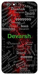 Devarsh (God's Gift) Name & Sign Printed All over customize & Personalized!! Protective back cover for your Smart Phone : Moto E-2 ( 2nd Gen )