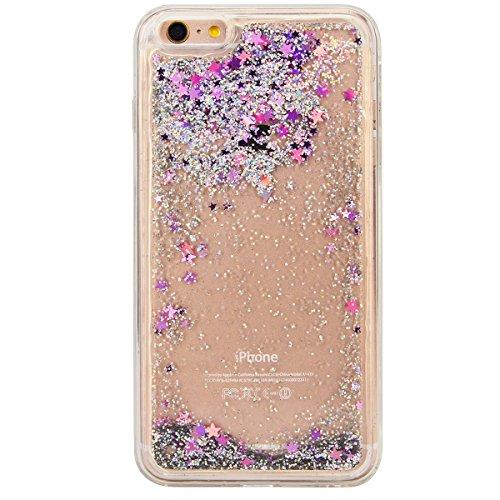WE LOVE CASE iPhone 6S Plus Coque, Étui de Transparent et Clair Coque Souple Liquide Bling Briller, Housse de Protection en Premium Silicone Mince Case Pour iPhone 6 Plus iPhone 6S Plus - Violet violet
