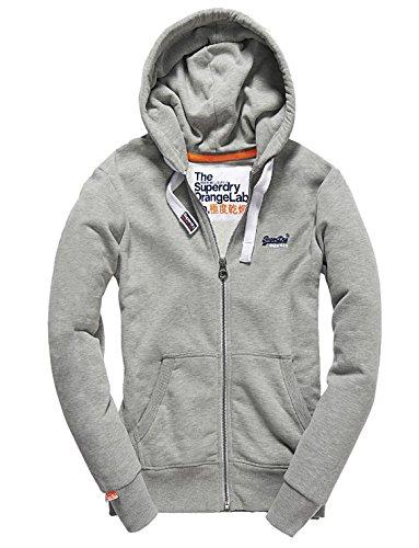 Superdry Herren Sweatshirt Orange Label Ziphood, Grau (Grey Marl07Q), X-Large