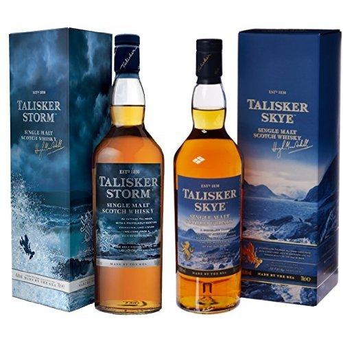 Bundle: Talisker Storm and Talisker Skye Single Malt Scotch Whisky 70cl