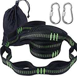 Irainy Hammock Straps,10 Feet Hammock Tree Hanging Straps (Set Of 2) With 2 Heavy Duty Lock Snap Hook Carabiners Carrying Bag, Fits All Hammocks