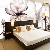 BHXINGMU Benutzerdefinierte Fototapete 3D Großes Wandbild Magnolie Blume Ktv Bar Wand 300Cm(H)×450Cm(W)