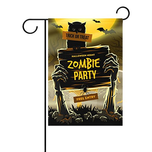 bennigiry Halloween Arme Dead Zombie Party dekorativer Welcome Colorful Mulitcolor Helle Cute Garten Flagge, Gesponnenes Polyester, multi, (Yard Zombie Dekorationen)