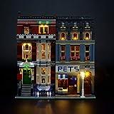 LIGHTAILING Set di Luci per (Creator Negozio di Animali) Modello da Costruire - Kit Luce LED Compatibile con Lego 10218(Non Incluso nel Modello)
