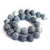 Strang 38+ Grau Matt Geknackt Achat 10mm Rund Perlen - (GS16124-3) - Charming Beads