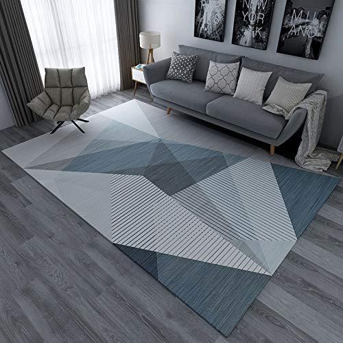 kailehi Nordisches einfaches helles Luxushaus 160CM * 200CMCM,Runde Teppich Teppich Monochrome Super Soft Home Teppich Multi Size Bodenmatte Wohnzimmer Schlafzimmer