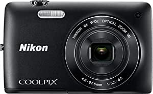 Nikon Coolpix S4400 20.1MP Point-and-Shoot Digital Camera (Black) with 4GB Card, Camera pouch