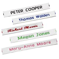 72 Sew-in Name Tapes For School (Pre-Cut) Woven Name Labels /Tags