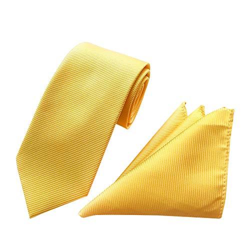 Herren Klassisch Krawatten und Einstecktuch Set - Die Seide Paisley Krawatte Taschentuch Quadratisches Set Krawatten zu weben Klassische gewebte Hochzeitsbindung (Stil 08)