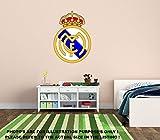 New Real Madrid Fußball FC Wandtattoo Baby Kinderzimmer Home/Zimmer Dekore Wandbild selbstklebend Aufkleber Wanddekoration..., Vinyl, 720mm x 510mm