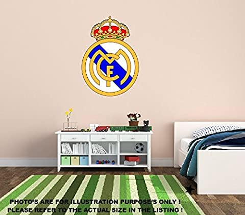 NEW Football Real Madrid FC Sticker mural Bébé Enfant Chambre Maison/Chambre Art Stickers Mural Autocollant décoratif..., Vinyle, 720mm x 510mm