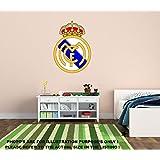 NUEVO Real Madrid FC de fútbol para pared de habitación Baby Kids Nursery Home/Decors Mural Art Decals–Adhesivos decorativos..., vinilo, 720mm x 510mm