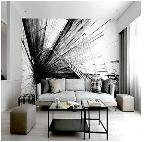 Graffiti en blanco y negro 3d HD murallandscapeResistente al desgaste a prueba...