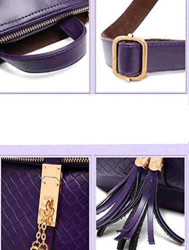 Mode Quaste Schulter Schultertasche Purple