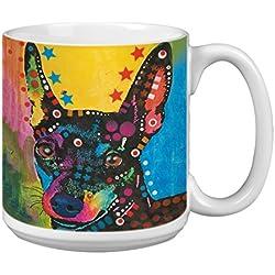 """Árbol de-free XM63191 20 oz de felicitación L-XL """"Big Mini"""" con diseño de barco Dean Russo de perro polvos de cerámica taza de café"""