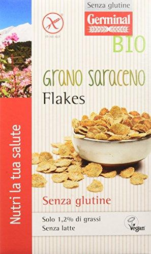 Germinal Bio Grano Saraceno Flakes - 8 confezioni da 200 gr - 1600 gr, Senza glutine