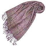 Lorenzo Cana - Luxus Pashmina Damen Schal Schaltuch aus Seide und Wolle 70 x 190 cm Paisley Muster Schaltuch Stola Umschlagtuch gewebt