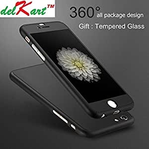Delkart 360 Degree Complete Protection cover For Apple I Phone 6/6s/6G(Black)