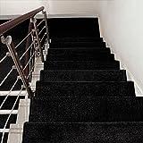 BBYE Tappeti per scale Self-adesivo Antisdrucciolevole In Legno Massiccio Famiglia Rubinetto Step Extra Spellare Solid Color Stair Tappeto Colore Dimensione Facoltativa ( Colore : Nero , dimensioni : 1 Piece-90*24cm )