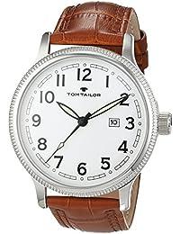 TOM Tailor relojes hombre-reloj analógico de cuarzo cuero 5415203