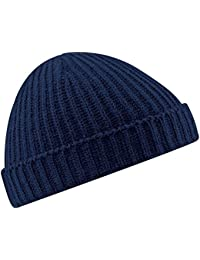 ae62c353341 New Beechfield Unisex Retro Fashion Fisherman Trawler Knit Beanie Hat
