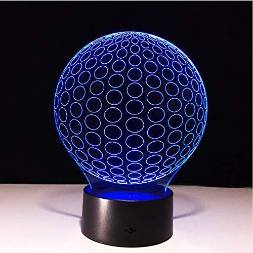 Neuartige Golf 3D Led Nightlights Kreis Ball Acryl Tischlampe Wohnzimmer Schlafzimmer Exquisite Geburtstagsgeschenk Für Kinder