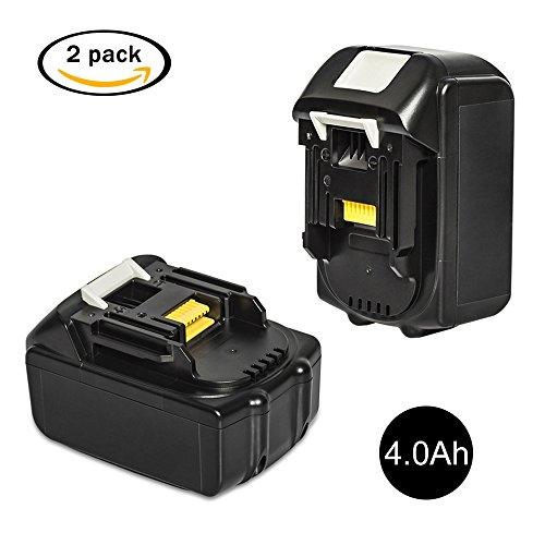 Preisvergleich Produktbild LiBatter 2 Pack BL1840 18V 4.0Ah Ersatzbatterien für Makita Werkzeugakku ErsatzAkku für Makita Akku BL1860 BL1850 BL1840 BL1830 BL1820 BL1815 BL1825 BL1835 BL1845 194204-5 5 LXT400 Li-Ion