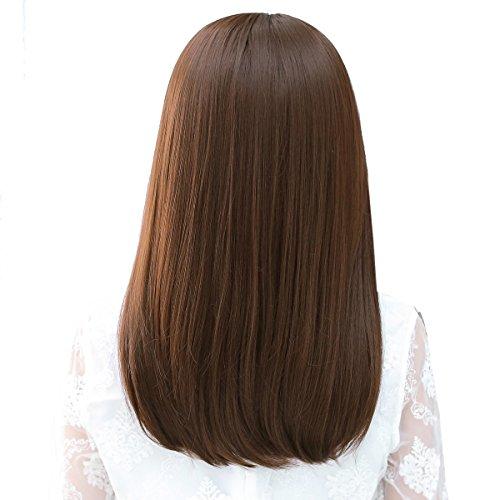 Snifgoij parrucca femminile lungo capelli ricci capelli biondi coreani capelli lunghi medi realistico grande cuoio capelluto lungo capelli diritti capelli lisci lanuginoso star star,a