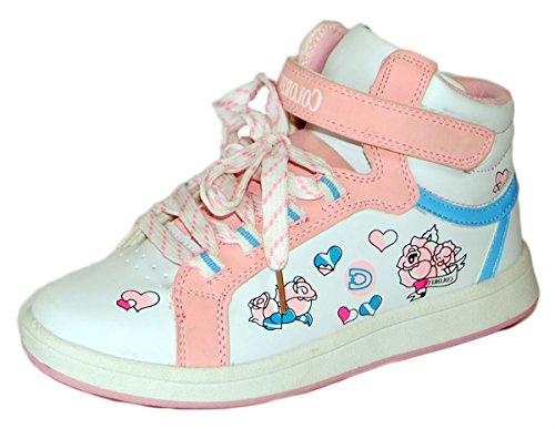 Colorful , Baskets pour garçon Blanc - Weiß Rosa