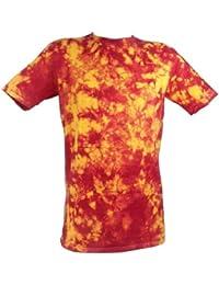 Tie Dye Red / Yellow Lifeguard Scrunch 701702 T-Shirt