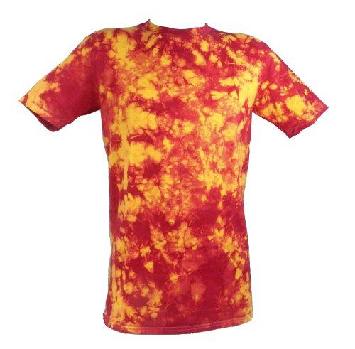Tie Dye Red / Yellow Lifeguard Scrunch 701702 Herren T-Shirt 009 3XL (Tie Red Dye)