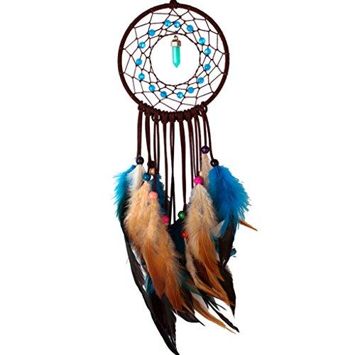 JAGENIE Atrapasueños de moda con plumas multicolor para colgar en la pared/coche