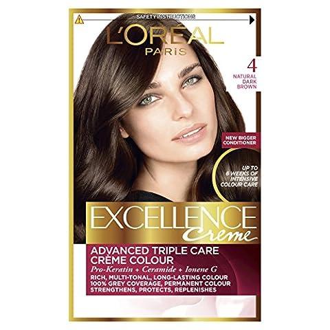 Excellence Creme 4 Natural Dark Brown Hair Dye