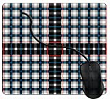 Juzijiang Tappetino Mouse da Gaming Estratto Gabbia Scozzese, Gomma Antiscivolo per Computer Portatile Mouse Pad
