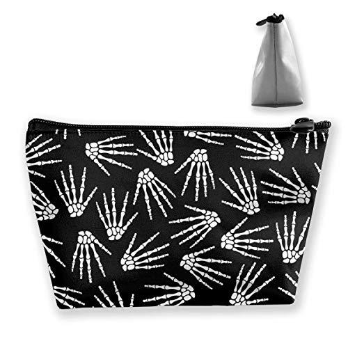 Hand Schädel Knochen Skelecton Make-up Tasche Reisetaschen Stift Bleistift Stromleitungen Aufbewahrung von Zubehör - Schädel Knochen-grafik