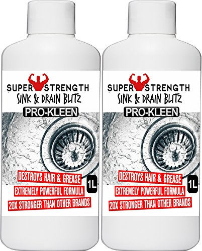2-x-1-litres-pro-kleen-plughole-sink-drain-unblocker-super-strength-formula-up-to-8-treatments