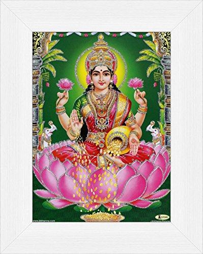 avercart-goddess-laxmi-shri-lakshmi-laxmiji-goddess-of-wealth-poster-13x18-cm-with-photo-frame-5x7-i