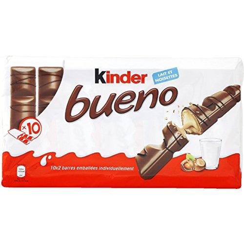 kinder Fines gaufrettes enrobées de chocolat au lait, fourrées lait et noisettes broyées. - ( Prix Unitaire ) - Envoi Rapide Et Soignée